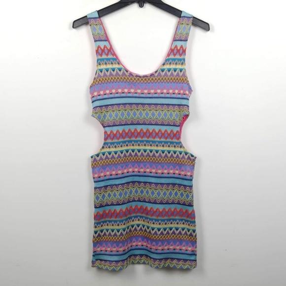 LF Dresses & Skirts - LF Mags & Pye   Embroidered Cut Off Dress Mini